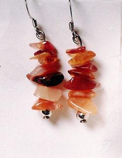 Gemstone Chip Earrings