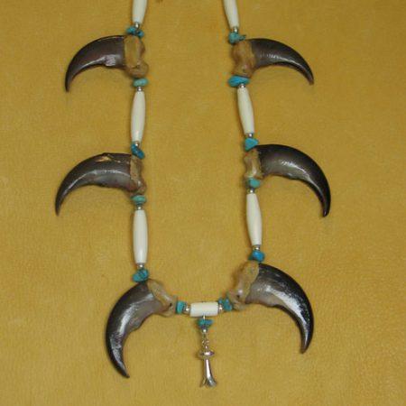 Six Bear Claw Necklace