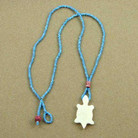 Bone Animal Cutout & Seed Beads Necklace 109
