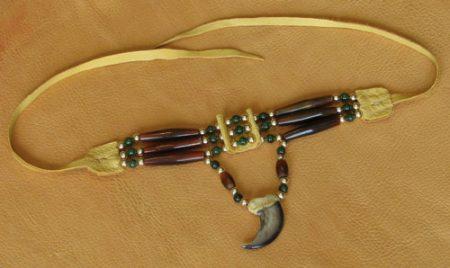 Three Strand Amber Horn & Bear Claw Choker