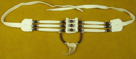 Three Strand Garnet & Wild Cat Claw Choker