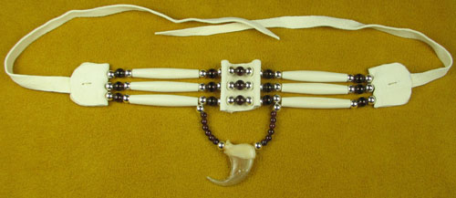 Three Strand Garnet & Wild Cat Claw Choker