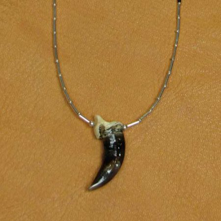 Alaskan Wolf Claw and Heishe Necklace