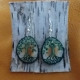 Deer Antler Disc Earrings - Spring Tree Of Life