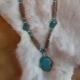 Turquoise Slab & Turquoise Nuggets Necklace