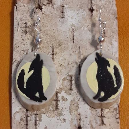 Deer Antler Earrings - Coyote